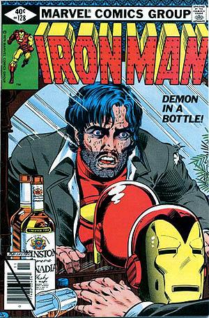 Coveret til Ironman nr. 128, det sidste nummer i Demon in a Bottle-storylinen.